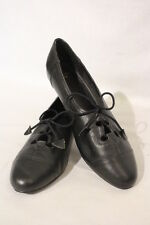 Black Leather Womens DANCE/JAZZ Shoes, Lace Up, Womens Size 9.5M B25
