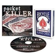 Packet Killer Ultimate Gaffed Bicycle Deck & Dvd Simon Lovell Magic Card Tricks