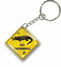 Porte clés clefs keychain voiture maison no swim australie panneau road sign