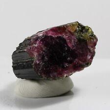 80.70ct Watermelon Tourmaline Crystal Gem Mineral Green Pink Nigeria Etched
