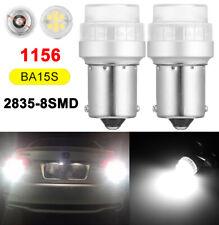 2X 1156 P21 W BA15S 8SMD LED Rückfahrlicht Bremslicht für VW Audi Golf 180° DE