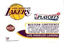 LA Lakers 2008 NBA West Conference Champs Static Cling Ultra Decal Sticker Rare