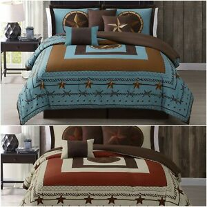 Chezmoi Collection 7-Piece Western Country Star Oversized Bedding Comforter Set