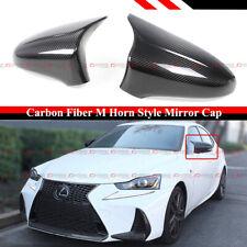 FOR 14-2020 LEXUS IS200 300 350 M HORN STYLE CARBON FIBER SIDE MIRROR COVER CAP