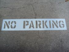 "12"" No Parking Parking Lot Stencil 1/16"", Ldpe 3"" Edges 2"" Spaces, Easy To Read"