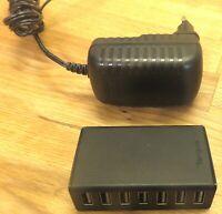 Targus USB Desktop Hub ACH115EU-A + 7-port USB 2.0 + Extern + Netzteil + schwarz