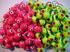 100 NEW FLOATING JIG HEADS 3/8 OZ. SIZE 1 HOOKS  WALLEYE JIGS   FLOATING