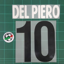 Juventus Home 2002-03 DEL PIERO #10 Homekit Nameset Printing Toppa Calcio Patch