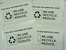 100 Qty This Box Has Been Re Used Recycle Reduce Shipping Label Stickers Small