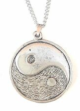 Ying N Yang Design1 Pendant Handcrafted in Solid Pewter In The UK + Free GiftBox