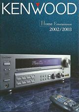 Kenwood Katalog Prospekt 2002/'03 KRF-X9995D KMF-X9000 DVF-J6050 DVT-8100