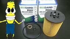 Premium Oil Filter for BMW 645ci with 4.4L V8 Engine 2004-2005 Pack of 2