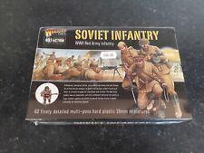 WARLORD GAMES SOVIET INFANTRY WW2 28mm PLASTIC SET UNUSED