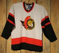 VTG CCM Ottawa Senators NHL Hockey Jersey Blank White Youth L / XL +