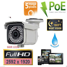 5MP 2592*1920P HD 1080P Outdoor vision Infrared IR 185ft PoE IP security camera