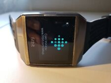 Fitbit Ionic Smartwatch, Black/White, (1) One Size Replacement Band+BONUS CHARGE