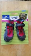 NWT Top Paw Reflective Dog Boots Size SMALL Red & Black Rubber Soles