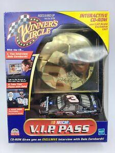Dale Earnhardt #3 NASCAR WINNERS CIRCLE VIP PASS CD-ROM AND 1/43 CAR NIB