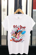 The Ren and Stimpy Show Vtg T-shirt 1991 Nickelodeon tee Nicktoons 90s Reprint