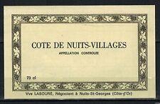 Etiquette de Vin -Bourgogne -Cotes de Nuits Villages- New-Never Stuck -Réf.n°107