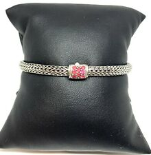John Hardy Classic Chain & Red Sapphire Sterling Silver Bracelet- Retail $595
