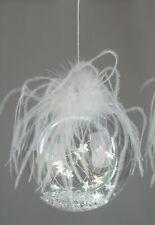 LED Deko Kugel zum hängen EISZEIT STERNE D. 10cm mit Timer Glas Formano W20