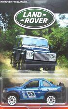 2016 Matchbox LAND ROVER ANNIVERSARY 1998 LAND ROVER FREELANDER RALLY mint card