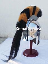 Medieval Greek Corinthian Helmet Nec Black Plume Spartan Armor