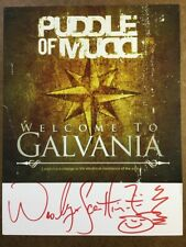 PUDDLE OF MUDD WES SCANTLIN AUTOGRAPH SIGNED 8x10 PROMO PHOTO CARD