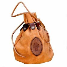 Medieval Large Leather Drawstring Pouch