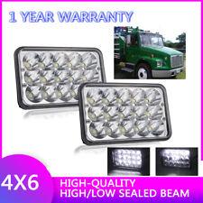 """2X 4x6"""" 45W LED Headlight High Low Beam For Kenworth T600 T800 T400 W900B,W900L"""