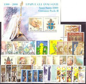 2000 Vaticano Annata Completa Nuovi Come Unificato 37 Valori + 1 Bf  Integri