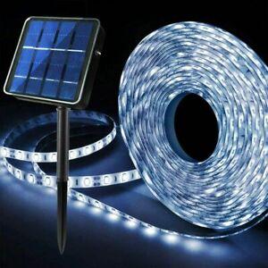 Solar Powered 3M/5M LED Strip Lights Flex Tape Garden Fence Lamp Outdoor Decor