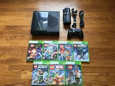 Microsoft Xbox 360 E Console + 7 LEGO Games bundle lot slim system star wars+bat
