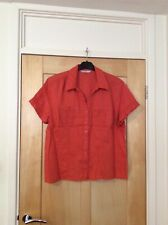 TU Dark Orange Linen Shirt Top Size 18 See Description