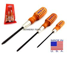 Grace 3pc Square Robertson Screwdriver Set #0 #1 #2 Wood Handle MADE IN USA