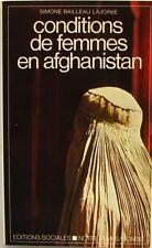 Conditions de Femmes en Afghanistan - Simone Bailleau Lajoinie - 1980 - 4500 ex