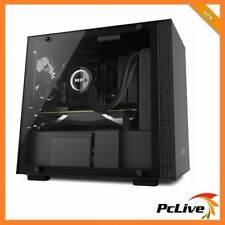 NZXT H200 Matte Black Mini ITX Case Tempered Glass Window Gaming Tower 2x Fans