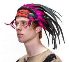 Pink Indian Headdress Squaw Brave Chief Hens Night Costume Fancy Dress Halloween