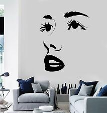 Vinyl Wall Decal Sexy Face Eyes Lips Beauty Salon Stickers Mural (152ig)