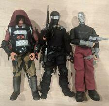 12 inch gi joe lot snake eyes, zartan and destro. Kitbash and custom weapon