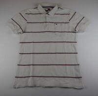 Tommy Hilfiger Damen Poloshirt Gr.M weiß gestreift -S687