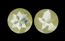 0.65 Ct Natural Loose Diamond Round Rose Cut Light Yellow Color 2 pcs I3 N4837