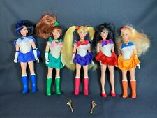 "Vintage Sailor Moon 6"" Adventure Dolls BanDai 1995 - Jupiter Mars Venus Mercury"