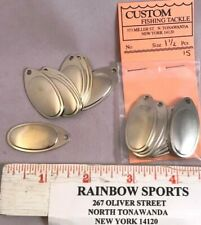 """French Style Spinner Blades Nickel Plate (approx 1 1/2"""" long) 15pk."""