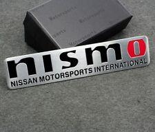 3D NISMO Emblem Auto Metall Fenders Schriftzug Aufkleber für Chrom + Rote NEU