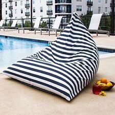 Jaxx Twist Outdoor Bean Bag Lounge Chair - Navy Striped