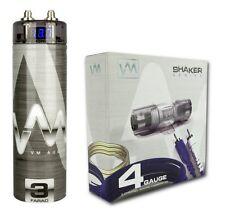 VM Audio SRSK4B 4 Gauge Ga Car Amplifier Amp Wiring Kit+ 3 Farad Power Capacitor
