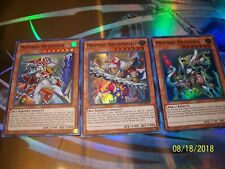 Mermail Abyssteus + Abyssmegalo + Abyssleed 1st Edition Super SHVA Yu-Gi-Oh!