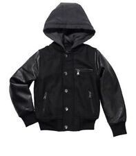 Urban Republic Boy's Novelty Varsity Leather Hooded Jacket - Small 7/8 Ur-2